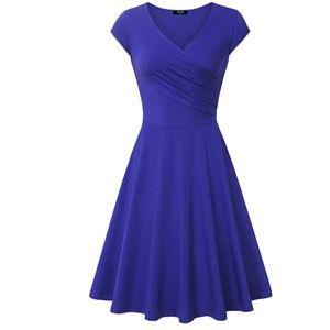 Casual Dress Elegant Dress A Line Cap Sleeve V Nec